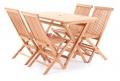 BAZAR - Dřevěná skládací sestava TEAK POHODA SET 4