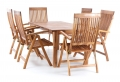 Dřevěný zahradní nábytek Chieri set 6